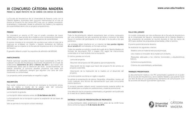 III Concurso PFC Madera bases