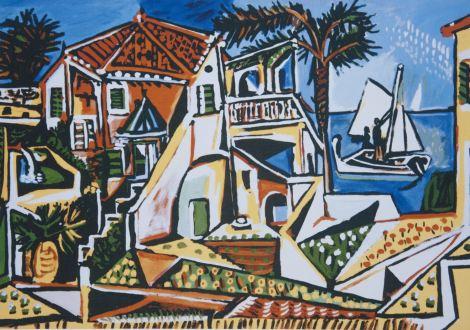 """""""Paisaje mediterráneo"""" de Pablo Picasso"""